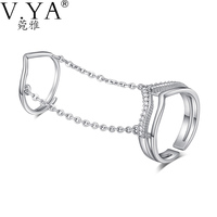 S925 Solid Silver Open Size Rings Jewelry Gold Plating AAA Crystal 100 Real Genuine 925 Sterling