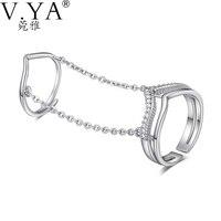 S925 Katı Gümüş açık boyut Yüzükler Takı Altın Kaplama AAA kristal 100% Gerçek Hakiki 925 Ayar Gümüş Knuckle Ortak Yüzük CR45