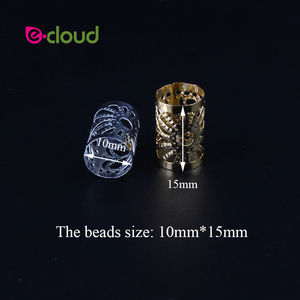 Image 2 - Wholesale 500Pcs 1000pcs/Pack Hair Styling Tools Dreadlock Hair Beads Adjustable Hair Cuff Clips 10mm Hole For Micro Hair Rings