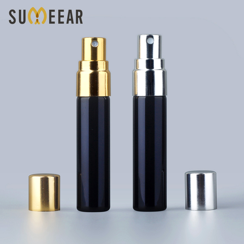 Wholesale 5ml Perfume Bottle Spray Perfume Atomizer UV Black Glass Refillable Perfume Bottle Empty Cosmetic Containers