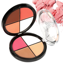 цена на ZD 1Pc Face Pressed Powder Makeup 4 Colors Contour Bronzer Blusher Palette Oil Control Brighten Highlighter Cosmetics F2055
