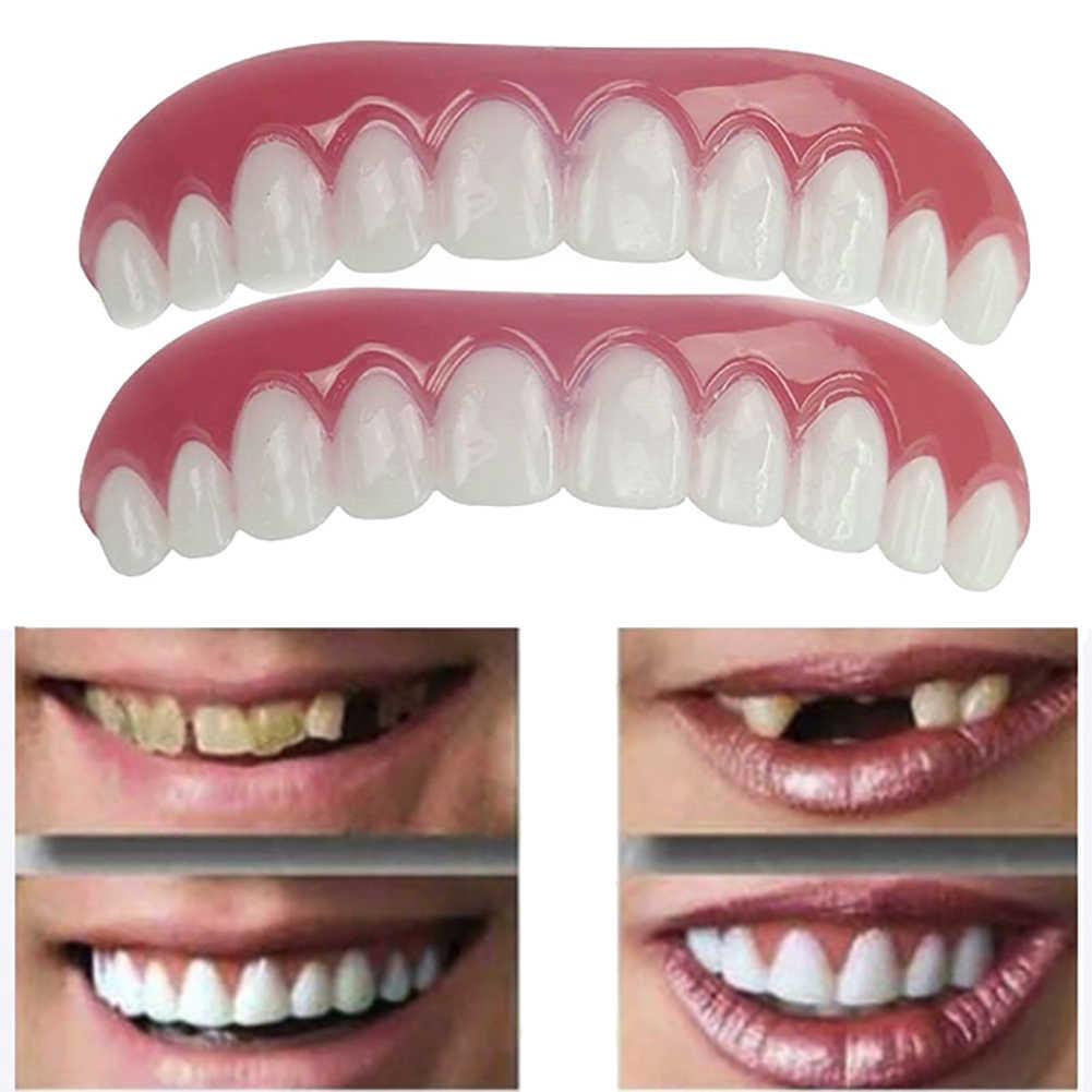 Teeth Veneers Cosmetic Teeth Snap On Secure Upper Lower Flex Dental Veneers  Denture Care Hot