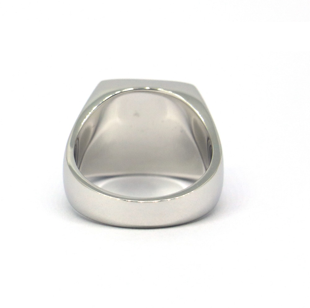 Image 5 - Engravable Genuine 925 Sterling Silver Mens Plain Square Signet  Ringsignet ringgenuine 925 sterling silver925 sterling silver -