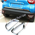 new ABS Chrome rear bumper reflector Fog Lamp light frame Cover Trims decoration For Renault captur 2014 2015 2016 accessories