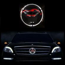 Автомобиль стиль Высокое Качество Автомобилей Передняя Решетка СВЕТОДИОДНЫЙ Фонарь Логотип Для GLK ML Viano GL B C E Свет Значка Автомобиля Авто Светодиодные Эмблема свет