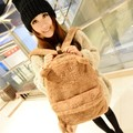 Winter Fashion Ladies Girls Backpack Korean Style Soft Backpack Cute Travel Satchel Shoulder Plush Bag Rucksack Women Mochila