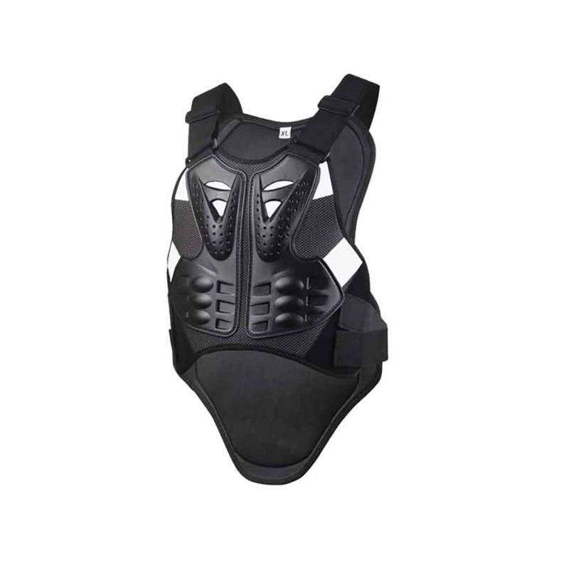 Protective Vest With Reflecting Strip Motocross Racing Armor Black Body Armor Motorcycle Riding Motorcycle Protector Jacket