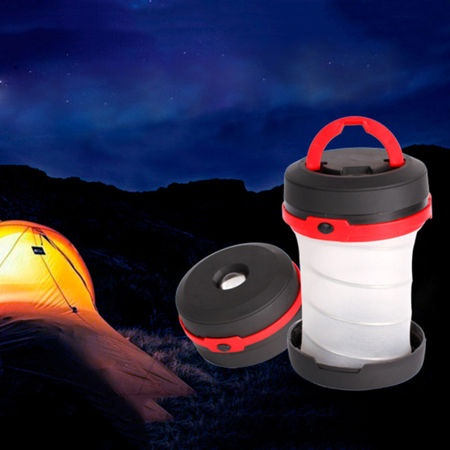 Collapsible Outdoor Portable LED Camping Lights Multifunctional Camping led Tent Lamp Light 3 AAA Battery Outdoor Travel