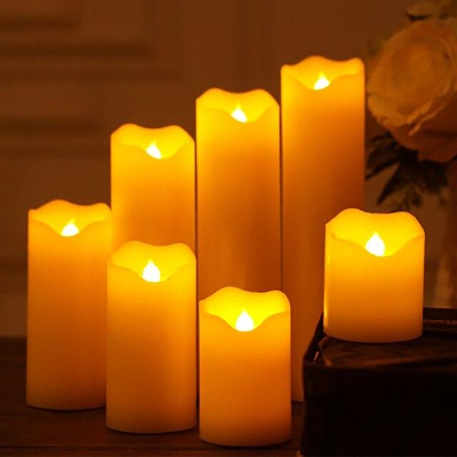 Wedding Decoration Led Candles Candlelight Dinner Bougies Et Chandelles Velas Flameless Making Bar Candle Home Decor QQZ263