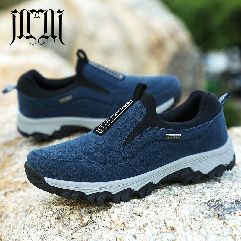 MUMUELI Black Blue Gray New 2019 Designer Casual Snow Men Shoes High Quality Fashion Luxury Male Boots Flat Brand Sneakers 581