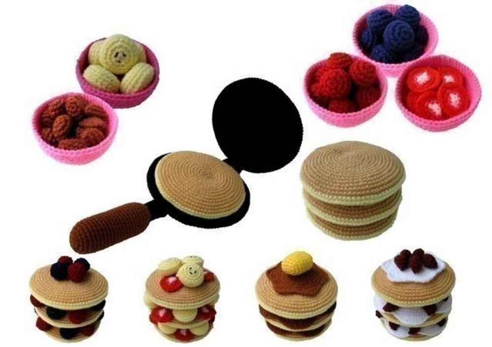 Armigurumi Crochet Rattle Toys Pancakes  Model Number 15738