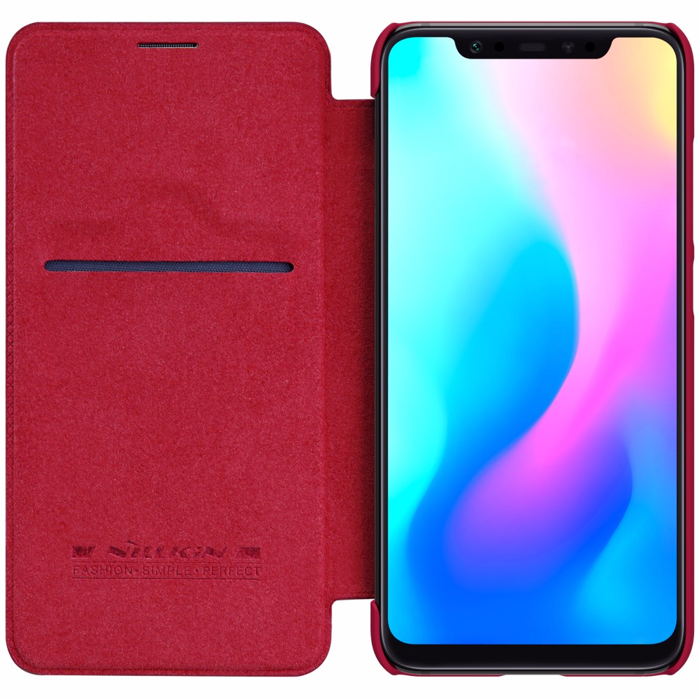 xiaomi mi8 mi 8 Case For xiaomi mi 9 mi9 Case Original Nillkin QIN Series Flip Leather wallet Case Cover with sleep function