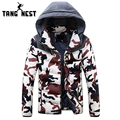 TANGNEST Newest Winter Camouflage Young Fashion Style Thick Warm Parka Hooded Slim Fit 3 Colors Asian Size Top Coat MWM1417