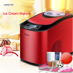 ICM-15A Mini Ice Cream Machine Household Intelligent Ice Cream Maker 1.5L Capacity 140W Full Automatic Ice Cream Makers 1PC Home