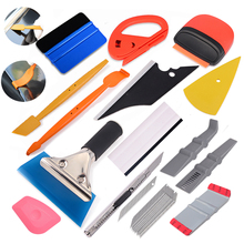 FOSHIO Car Vinyl Wrap Tool Set Magnet Squeegee Stick Squeezing Scraper Carbon Fiber Film Wrapping Cutter Aid Window Tint