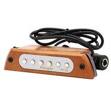 Деревянная акустическая гитара, звукосниматель со звуковым отверстием, магнитный звукосниматель для 39/40/41/42 дюймов, аналогичный цветовой г...