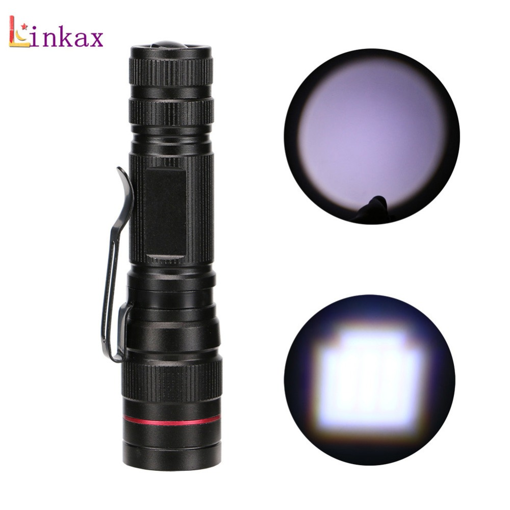 Portable Mini Penlight Q5 1200LM Zoomable LED Flashlight Torch Pocket Light Waterproof Lantern Powerful Led For Hunting