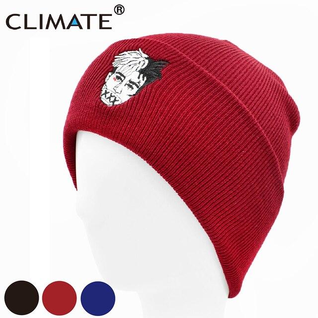 CLIMATE Xxxtentacion Beanies Hat Men Dreadlocks Hat Cap Beanies for Men  Women Knitted Winter Hat Hip-hop Cap Hats Xxxtentacion b1f92c5d262