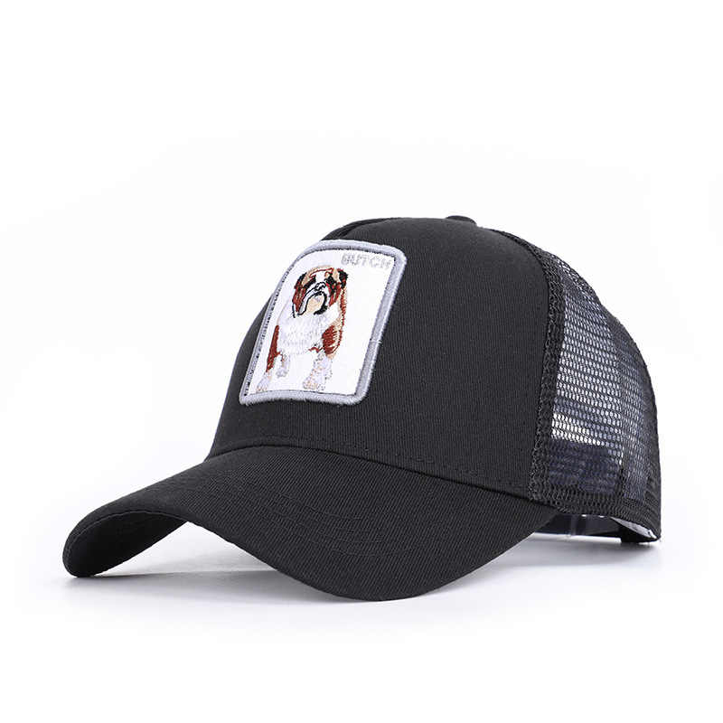 052553023b341 Summer Fashion Animals Baseball Cap Men Women Mesh Hat Unisex 6 Style Dog  Sheep Lion Pecker