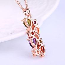 Luxury Multicolor Crystal Copper Pendant