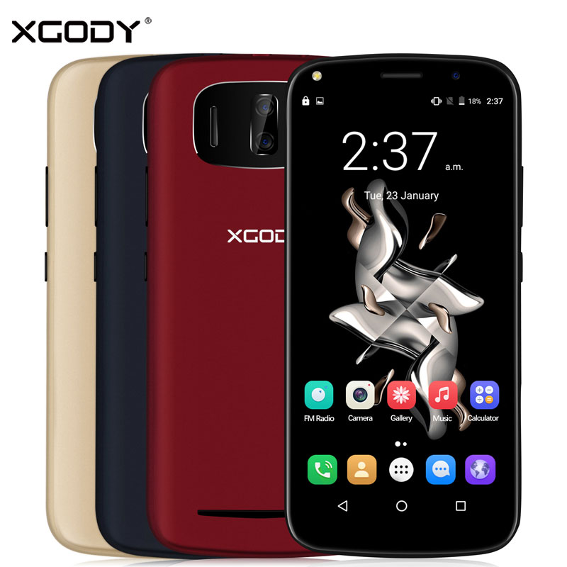 Xgody Y24 Smartphone 6.0 Inch 1GB RAM 8GB ROM Android 6.0 Quad Core Dual SIM Cards Telefone Celular WCDMA 3G Touch Android Phone