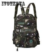 IVOTKOVA Men backpack Canvas Small Causal Shoulder Computer Backpacking Functional Versatile Bags Multifunctional Laptop
