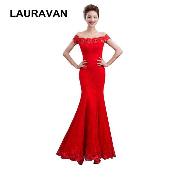 Unique And Elegant Wedding Dresses: 2018 Formal Fashionable Red Women Mermaid Dinner Dress