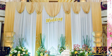 3x6m Wedding Backdrop for Wedding Decoration Wedding Drape and Curtain with Detachable Swag