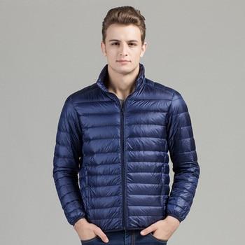 Leichte Herren Daunenjacke | Männer Kleid Kleidung Neue Leichte Daunenjacke Kragen Männlichen Wintermantel Herren Warme Kleidung Mode Lose Mantel Lässig Graben