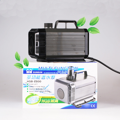 aquarium submersible water pump 55w 2000L/h Hmax 2.5m for rockery garden landscaping fish tank water cycle