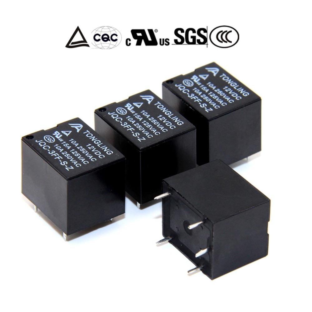 10 Pcs//lot Control Durable Normally Open Mini 5 Pins SRD-12VDC-SL-C Relay