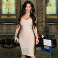Kim Kardashian Women Sexy Off the Shoulder Strapless Celebrity Bandage Dress Elastic Solid Color Mini Party Dress Dropship HL321