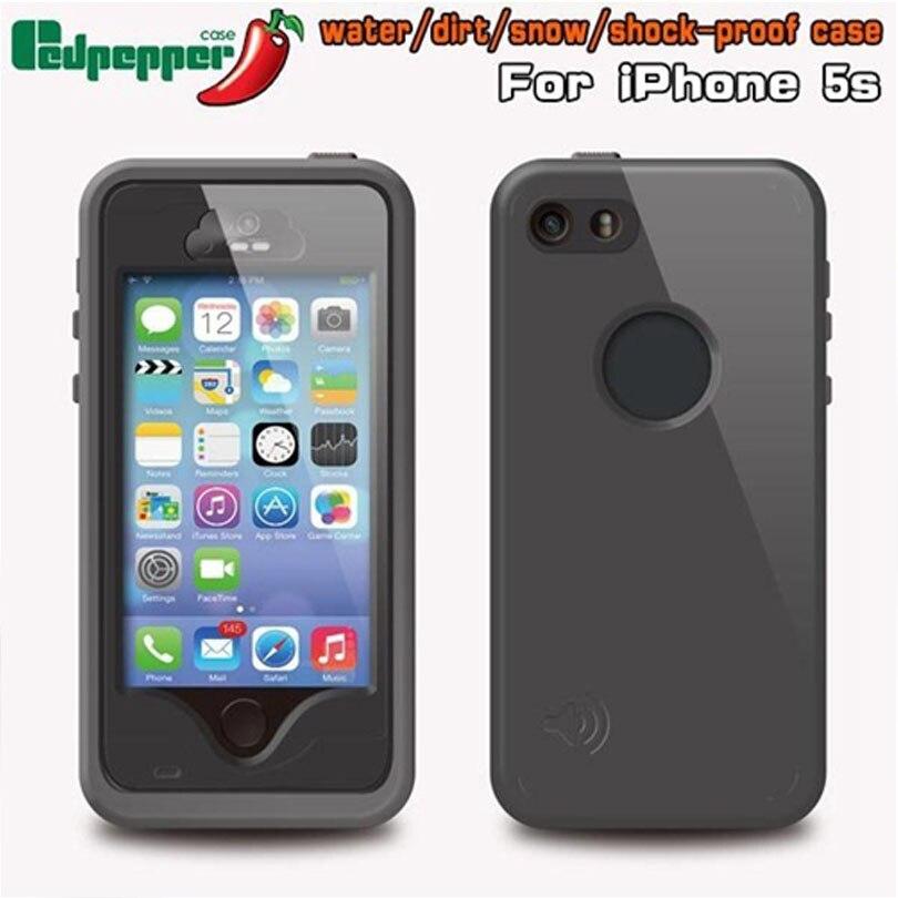 imágenes para 20 unids/lote DHL Libre de la Original Redpepper Funda Impermeable con identificación de la Huella Digital Para el iphone 5 SE 5S Armor para iPhone5