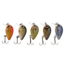 5pcs 1 Mini Minnow Crank Baits Sinking Lures & Popper Diving Lure for Bass Trout Freshwater/Saltwater