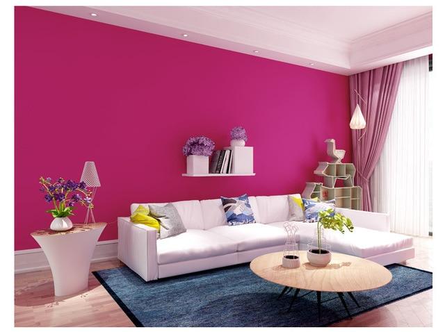 junran simple romantic rose bengal pure wallpaper in non woven ...