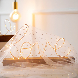 Iron Wooden Base Love Home Letter Night Light Ins Nordic LED Lamp Vogue Adornment Warm Light Bedroom Decoration Birthday Gift