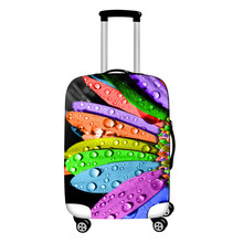 hot deal buy floral prints travel suitcase cover for 18-28
