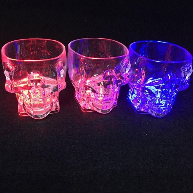led wedding favors led cup flashing shot glasses water induction luminous light up wine coffee set