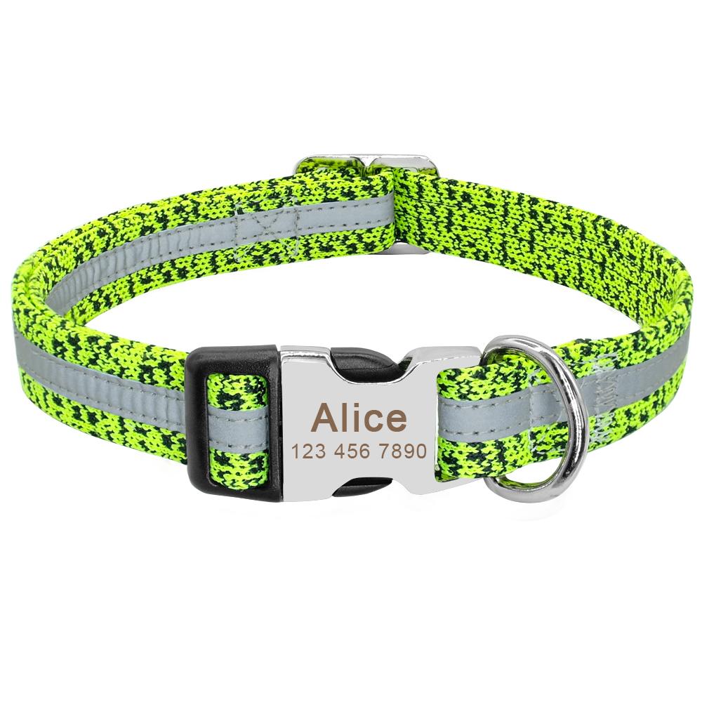 Collar de perro personalizado reflectante 11