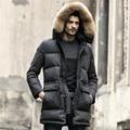 Hombres Chaqueta de invierno Mantener el Calor de Pato Blanco Abajo Chaquetas Largas abrigo Casual hombres gruesa Abajo Abrigo Chaquetas parka Marca homme nueva