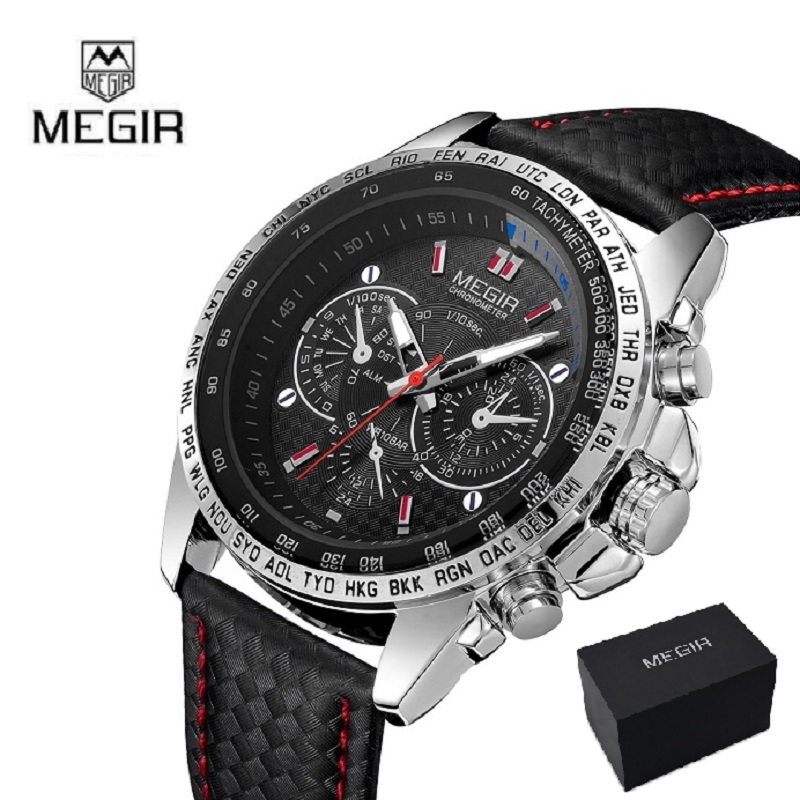 MEGIR Men's Watches Top Brand Luxury Quartz Watch Men Fashion Casual Luminous Waterproof Clock Relogio Masculino 1010 CULLINAN