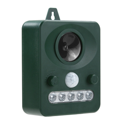 Ultrasonic Dog Cat Repeller 45MA (HZ) Outdoor Solar Power Animal Repellent Chaser Battery Operated with Rechargeable Battery