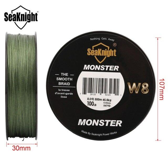 Potwór w8 multicolor 8 nici połowów braid linia 500 m szeroki kąt technologii linie pe do połowów morskich żyłka wędkarska 20-100lb