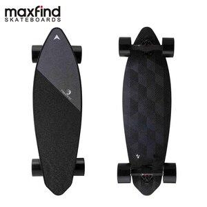Image 2 - Maxfind لوح التزلج الكهربائي المزود بأربع عجلات ماكس 2 ، لاسلكية تحكم عن بعد الكهربائية لوح التزلج Longboard Hoverboard الدراجة الاحادية