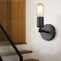 Estilo Loft Industrial Luminárias de Ferro Luz Da Parede Do Vintage Vento Edison Arandela Cabeceira lâmpada de Parede Da Escada Lâmpadas de Iluminação Interior