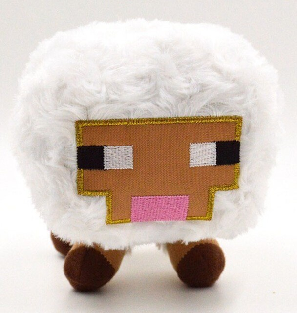 Jazwares Game Minecraft Plush Toys Genuine JJ Dolls Stuffed Plush Toys Minecraft White Baby Sheep Plush