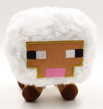 Jazwares Game Minecraft Plush Toys Genuine JJ Dolls Stuffed Plush Toys Minecraft White Baby Sheep Plush Toys 16cm Christmas Gift