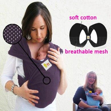 2016 nouveau produit fou Double boucles respirant mère kangourou à vendre porte-bébé et Wrap sac à dos ceintures élastique livraison gratuite