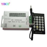 高品質dc5-24vオプションled調光器共通anade 24キーirリモート光センサーと時間コントローラ