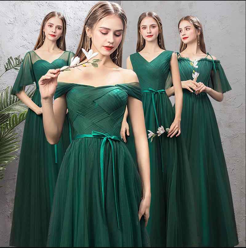 04b7871cce3 ... New Bridesmaids Dress Long Emerald Green Formal Simple Graduation Prom  Gown For Girls Mismatched Vestido Dama ...